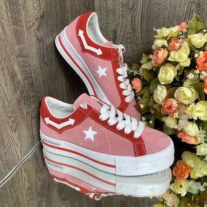 ❤️ Converse One Star Platform OX pink
